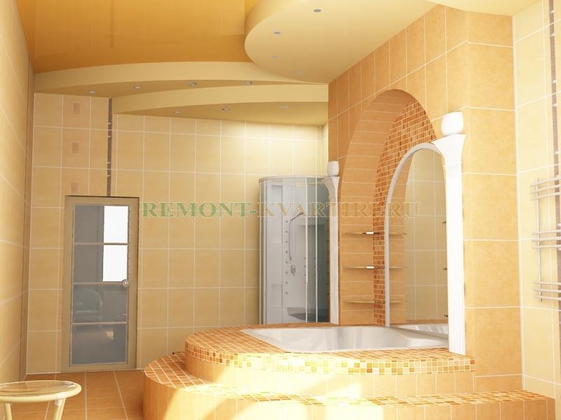 Ванная комната дизайн в частном доме