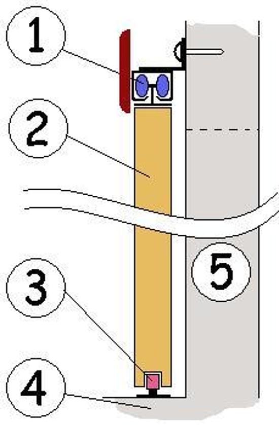 Сделать раздвижную межкомнатную дверь своими руками 62