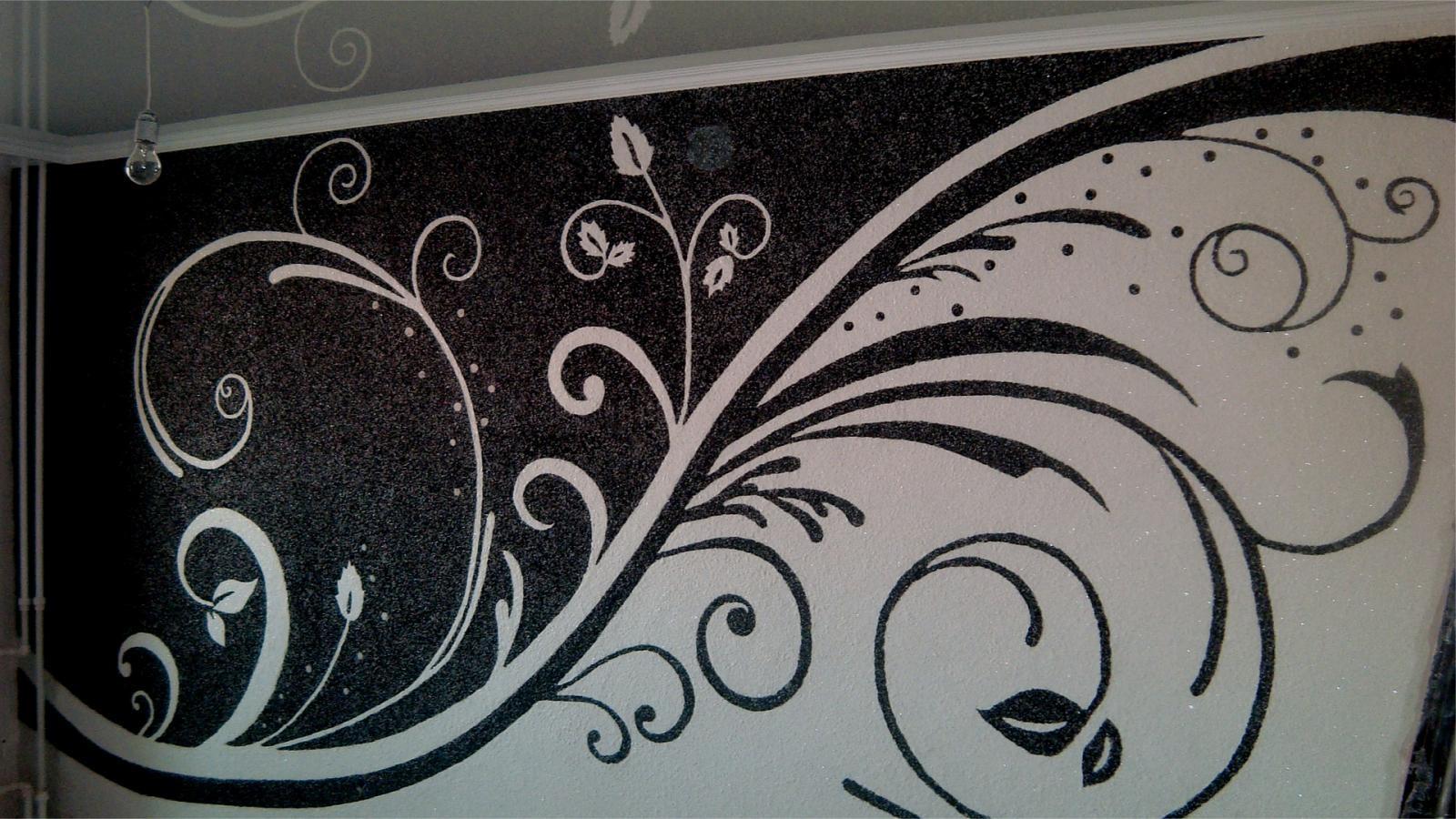 Рисунок на декоративной отделке